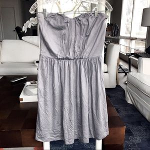 EXPRESS Grey Strapless Shimmery Dress 💎